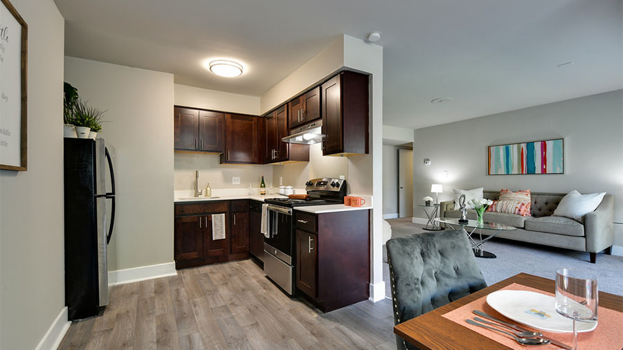 Spring Crossings Kitchen, Dining & Living Room