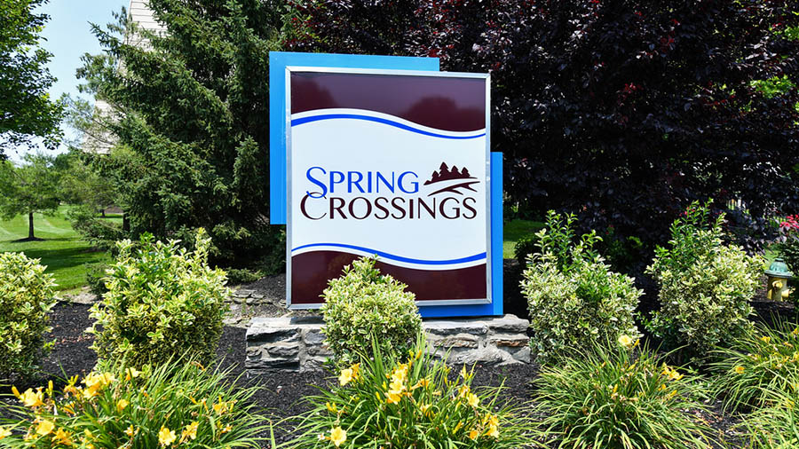 Spring Crossings Sign